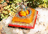 Large Orgone Pyramid / Creative Focus and Energizing Crystal Pyramid