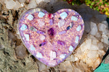Violet Flame Orgone Charging Plate | Heart Chakra Harmonizing Crystal Grid | FALL 2020