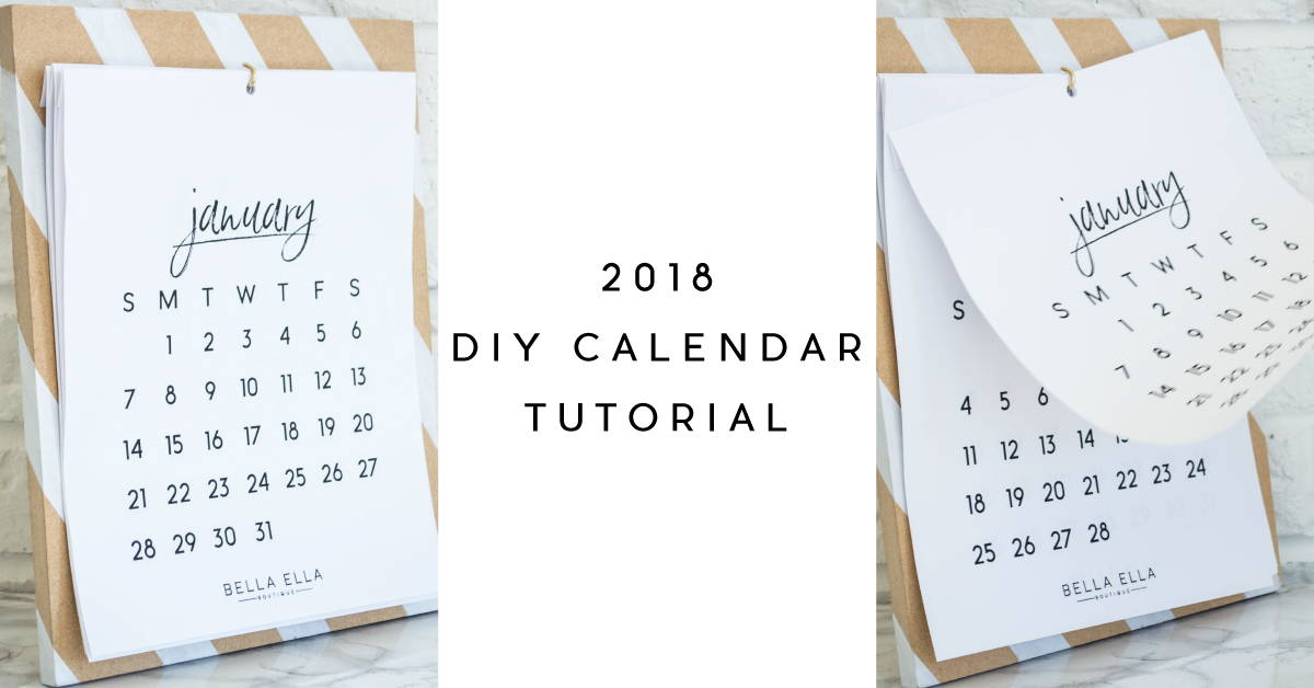 DIY Calendar Tutorial