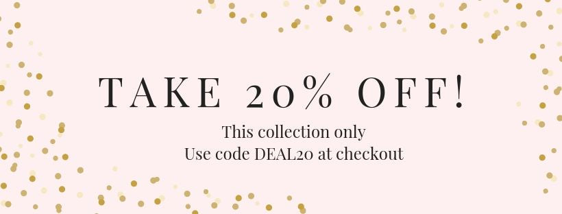 Take 20% Off with code deal20 at checkout