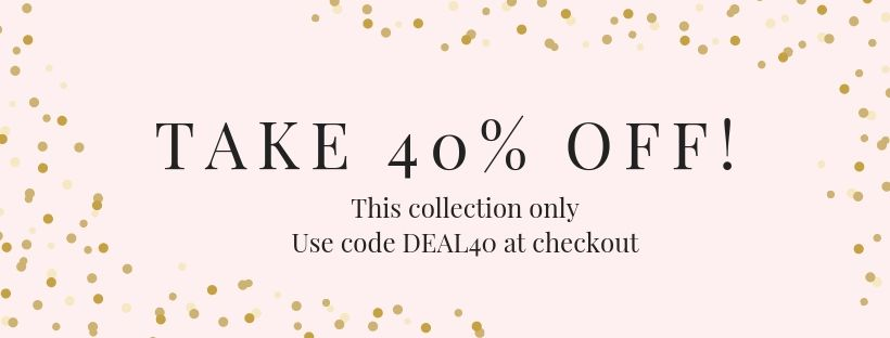 Take 40% off with code Deal40 at checkout