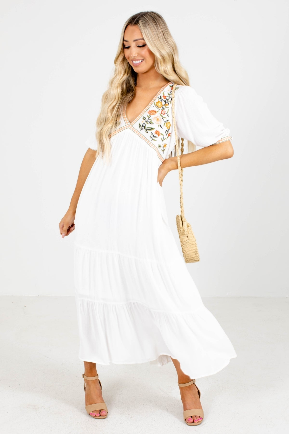 White Dresses Collection: White Maxi Dress