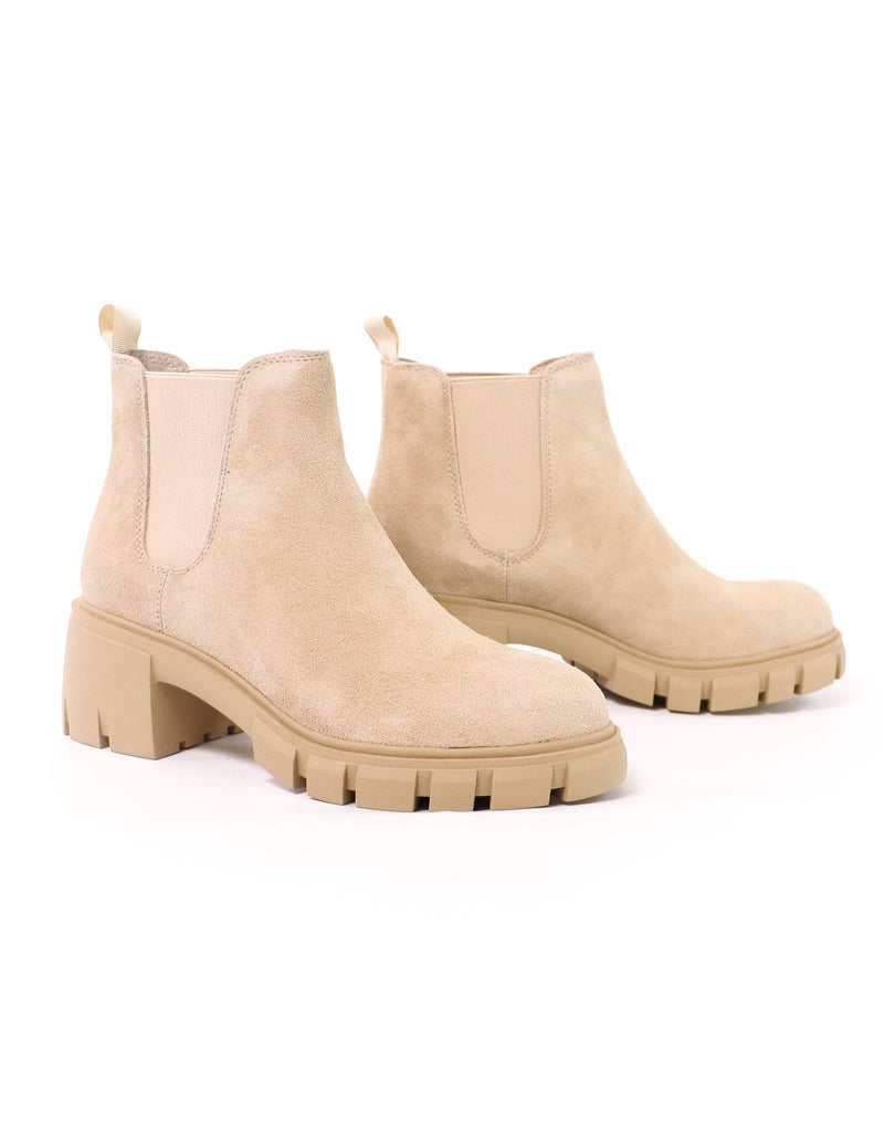 STEVE MADDEN Suede You Look Boot - Sand