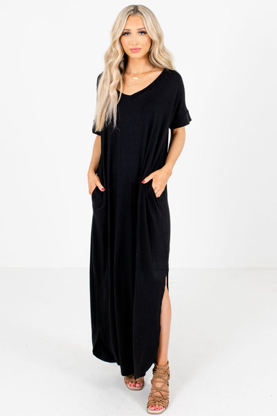 Black Maxi Length Boutique Dresses for Women