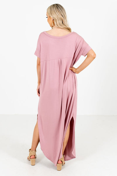 Women's Pink Cute and Comfortable Boutique Maxi Dress
