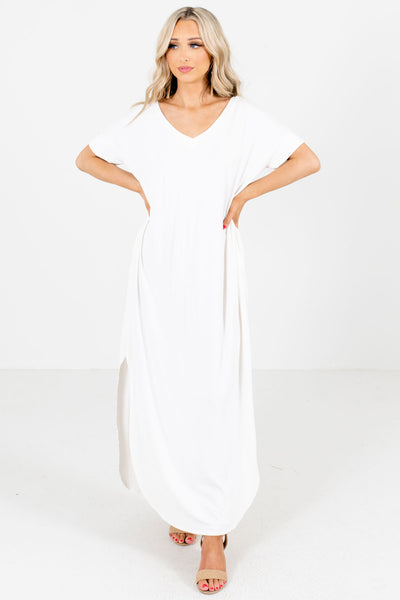 White Summer Boutique Maxi Dress
