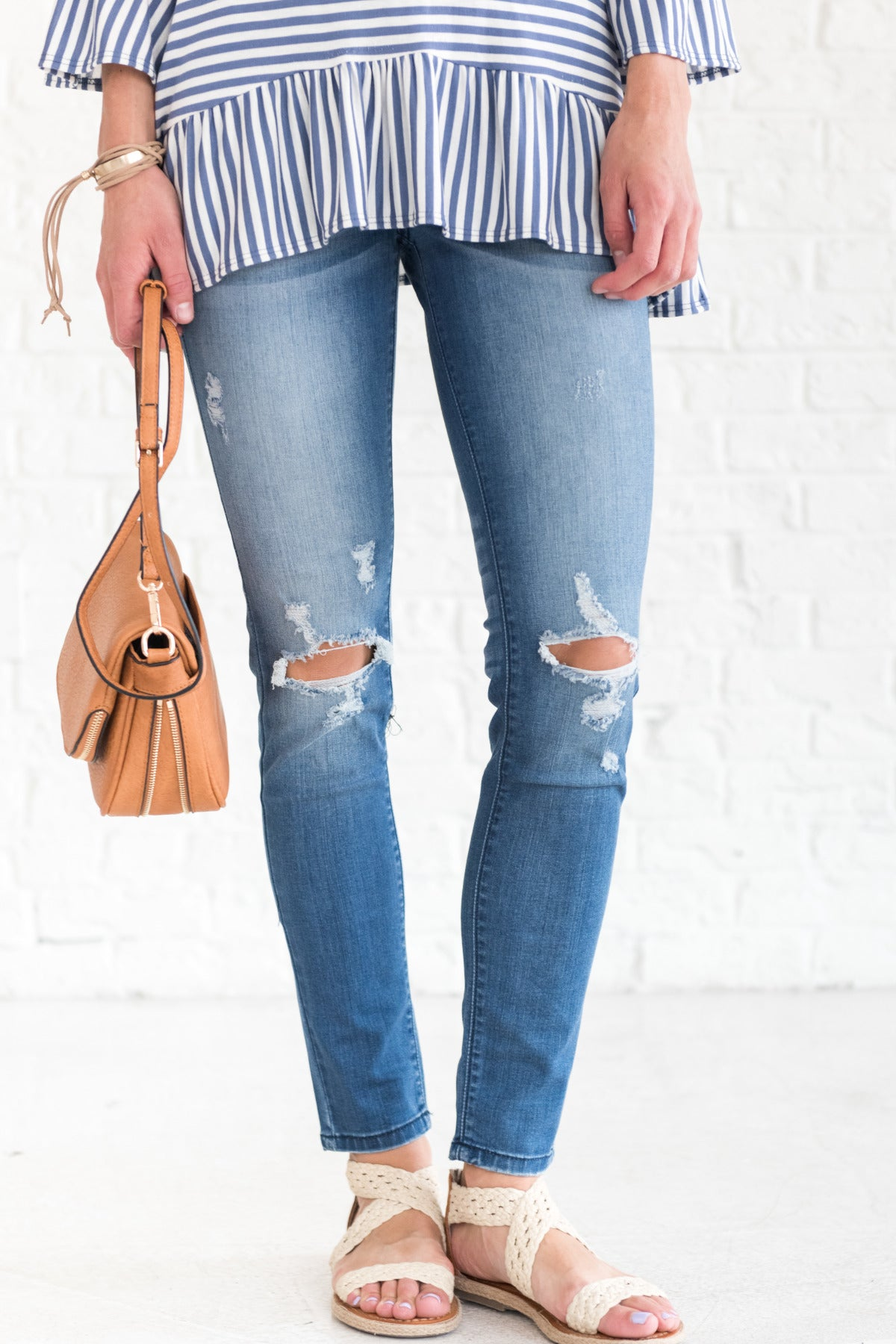 Dark Wash Blue Distressed KanCan Jeans