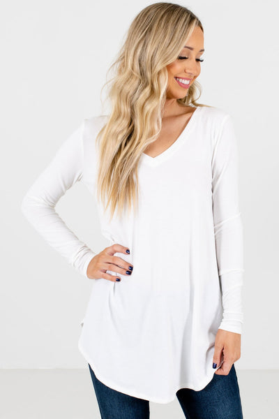 Women's White Layering Boutique Tops