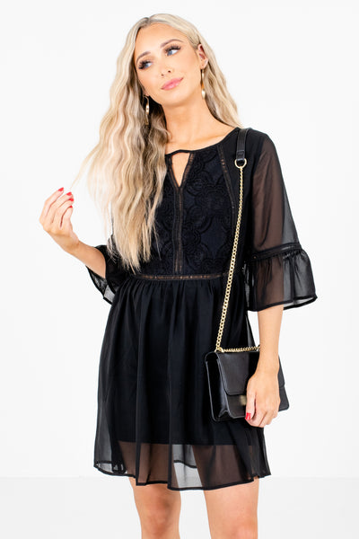 Women's Black Cute and Comfortable Boutique Mini Dress