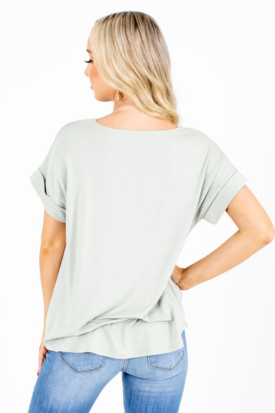 Women's Sage Green High-Quality Boutique Tops