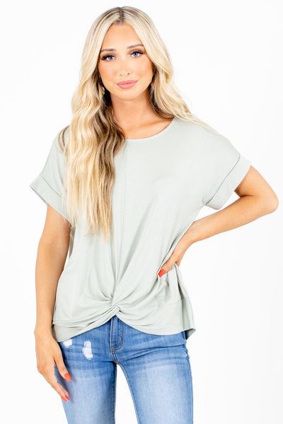 Sage Casual Everyday Boutique Tops for Women