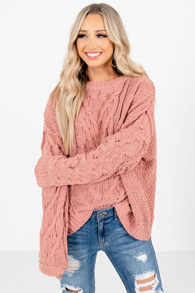 Coral Relaxed Oversized Fit Boutique Sweaters for Women