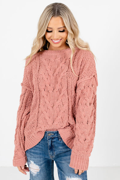 Women's Coral Long Sleeve Boutique Sweater