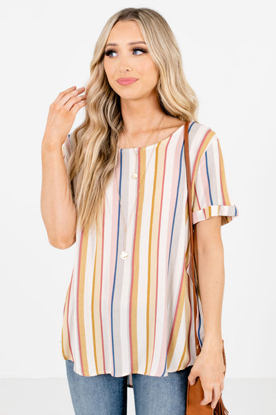 Adventure Together Mustard Striped Top