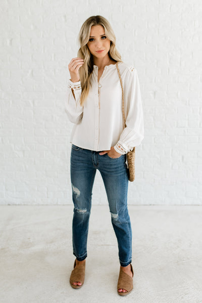 Light Cream Afforable Online Boutique Clothing for Women