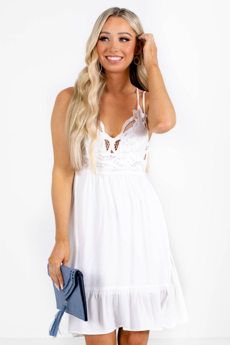 Always Be There Mini Dress - White