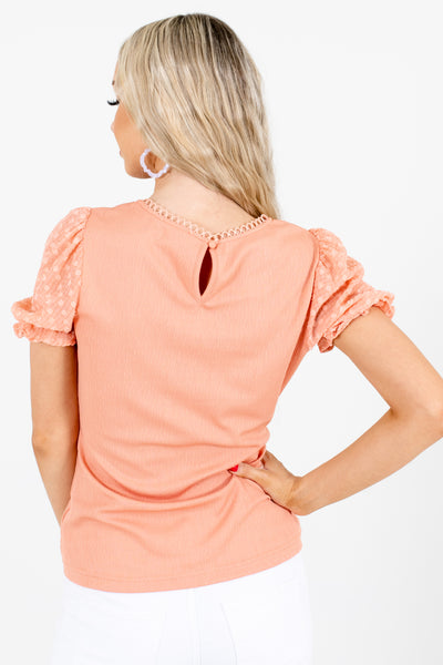 Women's Pink Decorative Button Boutique Blouse