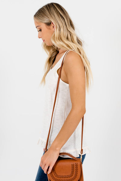 Cream Cute and Comfortable Boutique Tank Tops for Women