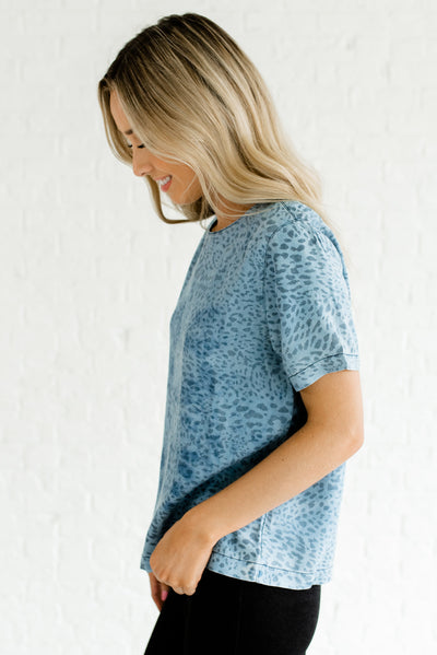 Blue Chambray High-Quality Soft Boutique Tops for Women