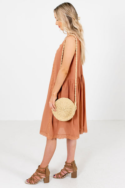 Women's Muted Orange Spring and Summertime Boutique Clothing