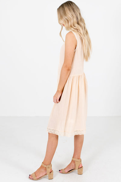 Women's Cream Casual Everyday Boutique Sundresses for Women