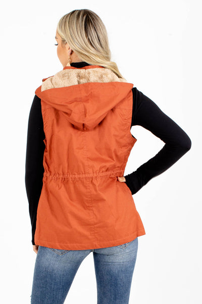 Women's Rust High-Quality Boutqiue Vest