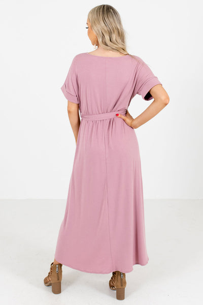 Women's Pink High-Low Hem Boutique Maxi Dress