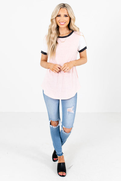 Women's Pink Cute and Comfortable Boutique Tees