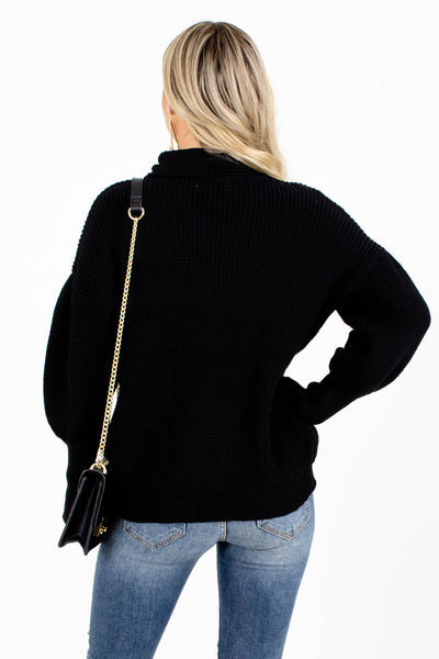 Women's Black Business Casual Boutique Sweater