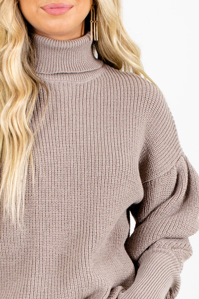 Women's Brown Cozy and Warm Boutique Sweater