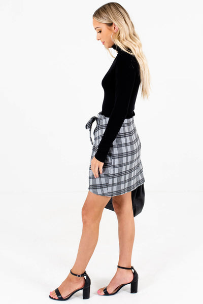 Gray Plaid Business Casual Boutique Clothing for Women