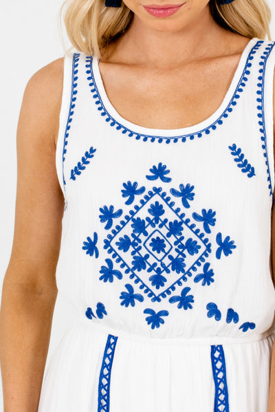White and Cobalt Blue Affordable Online Boutique Clothing for Women