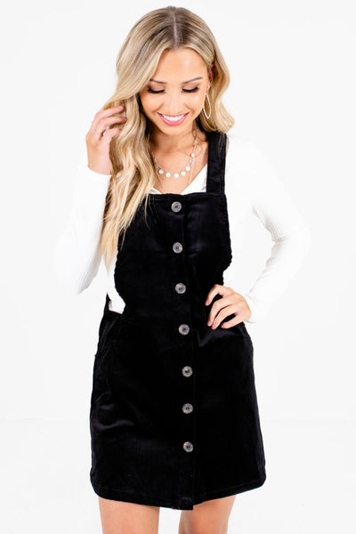 Women's Black High-Quality Lightweight Material Boutique Mini Dress