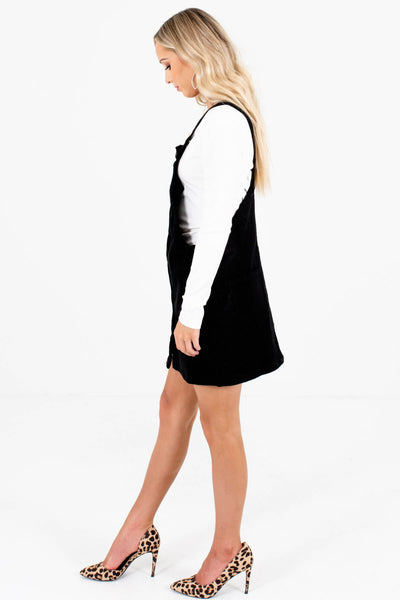 Black Boutique Mini Dresses with Pockets for Women