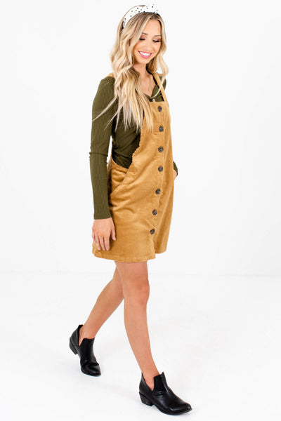 Camel Brown Cute and Comfortable Boutique Mini Dresses for Women