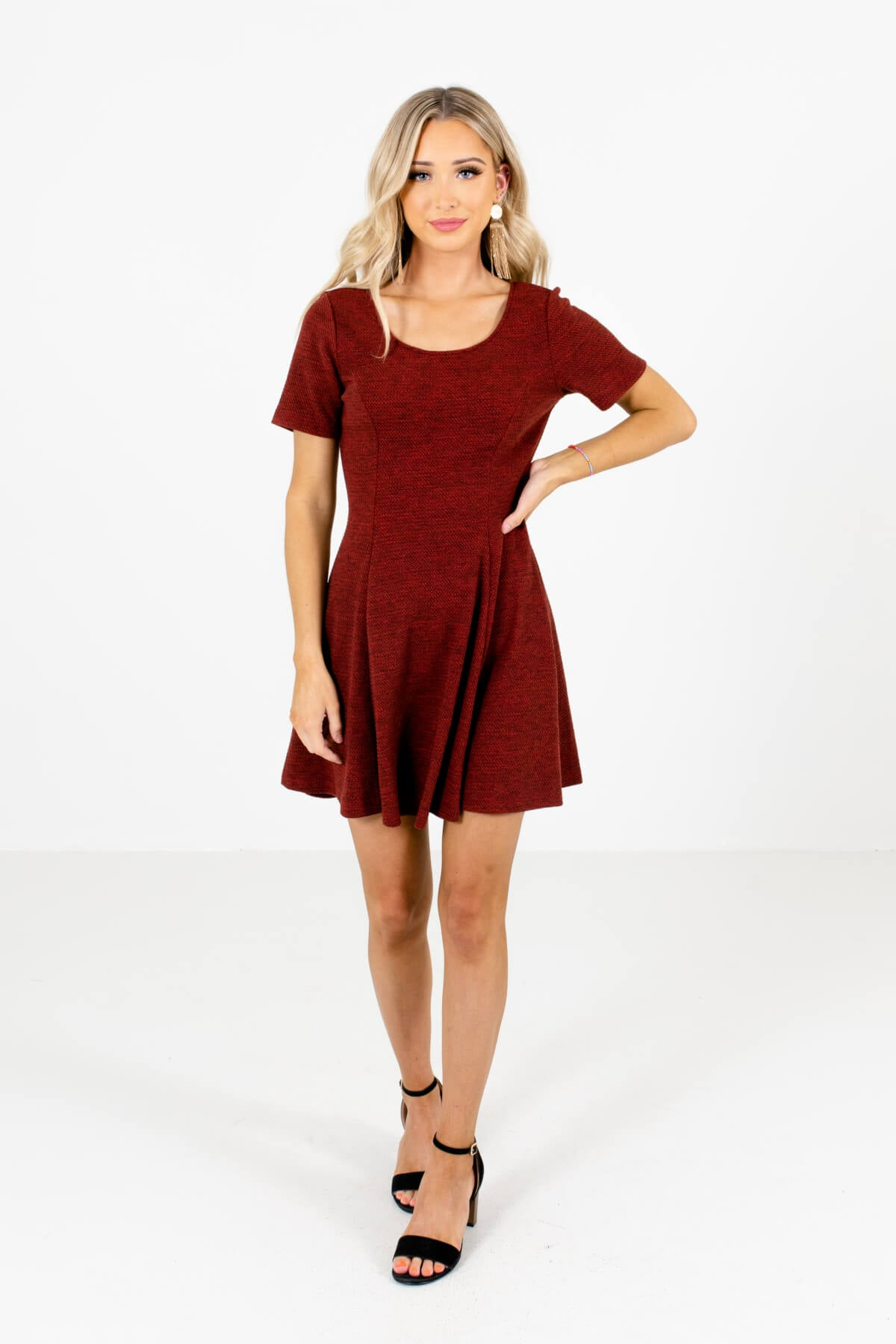 Red Going Out Winter Mini Dresses for Women