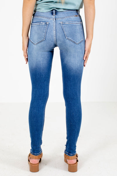 Women's Blue Distressed Detailed Boutique Jeans