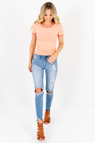 Women's Peach Pink Spring and Summertime Boutique Clothing