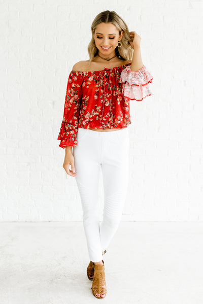 Vermilion Red Women's Spring and Summertime Boutique Clothing