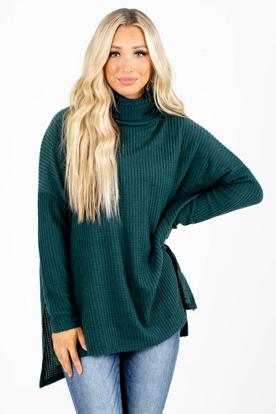 Teal Cute and Comfortable Boutique Tops for Women