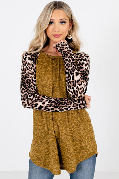 Mustard Cute and Comfortable Boutique Tops for Women
