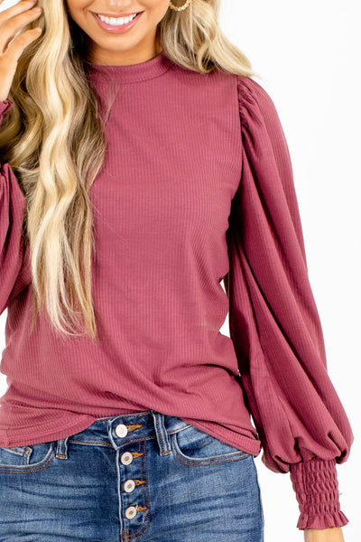 Cozy and Affordable Pink Top For Fall