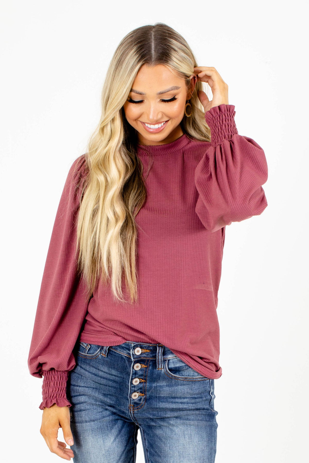 Women's Mauve Cute and Comfortable Boutique Top