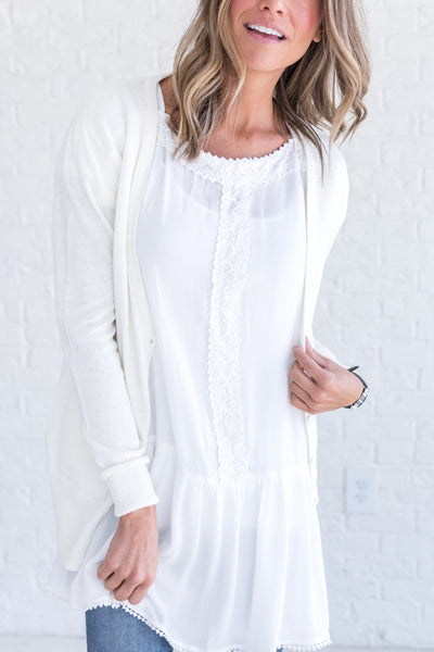 White Casual Fall Clothing for Women