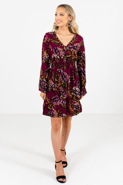 Purple Cute and Comfortable Boutique Mini Dresses for Women