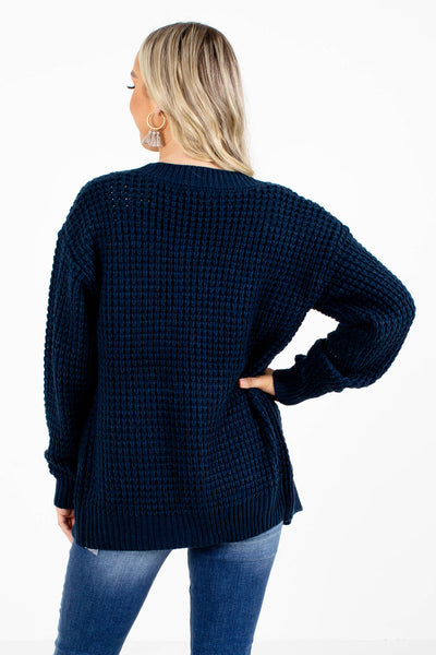 Women's Navy Cute and Comfortable Boutique Cardigan