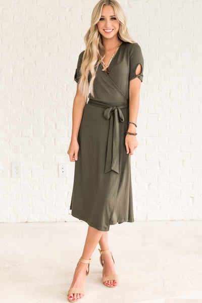Olive Green Fall Bridesmaid Dresses for Women
