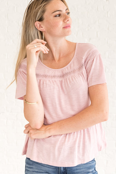 Light Pink Women's Affordable Online Boutique Clothing