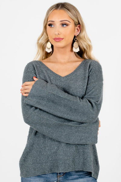 Green Cozy and Warm Boutique Sweaters for Women