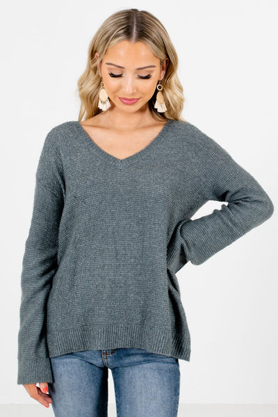 Green Boutique Lightweight Sweaters for Women